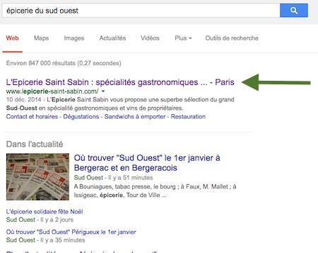 référencement naturel Epicerie Saint-Sabin